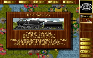 1830: Railroads & Robber Barons DOS screenshot
