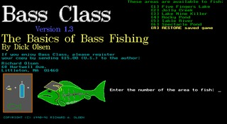 Bass Class DOS screenshot