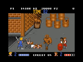 Double Dragon Amiga screenshot