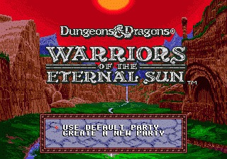 Dungeons & Dragons: Warriors of the Eternal Sun Genesis screenshot