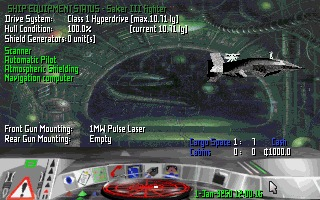 Frontier: First Encounters DOS screenshot
