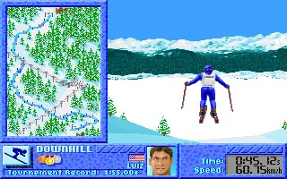 The Games: Winter Challenge DOS screenshot