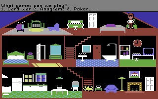 Little Computer People Commodore 64 screenshot