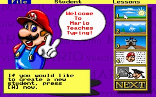 Mario Teaches Typing