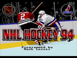 NHL Hockey 94 Genesis screenshot
