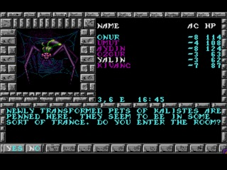 Pools of Darkness Amiga screenshot