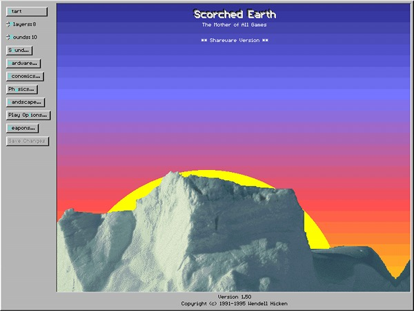 Scorched Earth - DOS