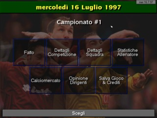 Scudetto 97-98 DOS screenshot