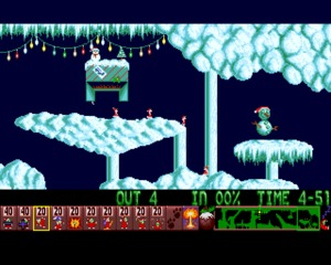 Xmas Lemmings 1991