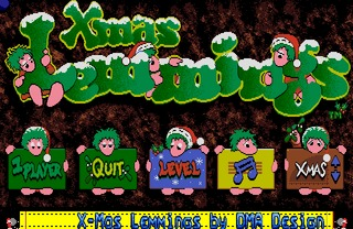 Xmas Lemmings 1992 Amiga screenshot
